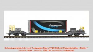 """RhB Sbk-v 7708 mit Planenbehälter """"Gfeller"""" schwarz"""