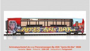 """MGB Bp 4028 Panoramawagen """"Aprés-Ski-Bar"""", rot"""
