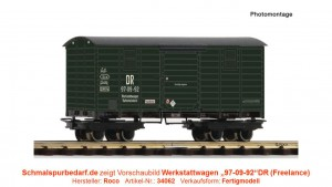 """Werkstattwagen """"97-09-92"""" DR"""