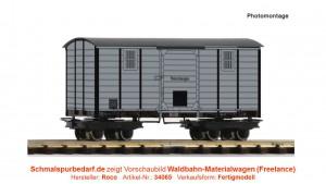 gedeckter Waldbahn-Materialwagen