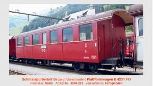FO Plattformwagen B 4231