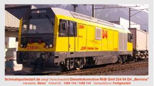 RhB Bahndienst-Diesellokokomotive Gmf 234 04