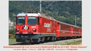 "RhB E-Lok Ge 4/4 II 623 ""Glacier Express"" // Sound"
