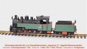 "Dampflockomotive ""Aquarius C"" (gr/sw/rt) // digital"
