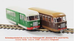 """2er-Set Dieseltriebwagen M1 """"Emmina"""" FCL"""