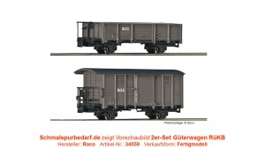 2er-Set RüKB Güterwagen