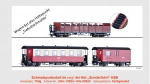 """4er-Set """"Sonderfahrt"""" der HSB // Einmalauflage"""