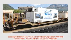 "RhB Sbk-v 7705 mit Kühlcontainer ""Casty"""