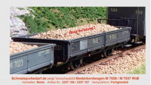 RhB M 7026 Niederbordwagen