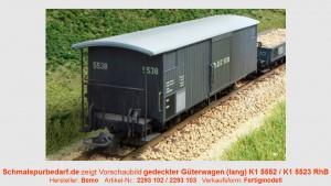 RhB K1 5552 gedeckter Güterwagen