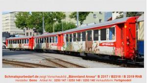 """RhB Einheitswagen B 2317 """"Bärenland Arosa"""""""