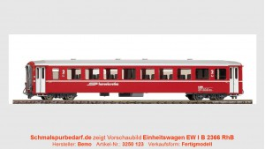 RhB Einheitswagen EW I B 2366, rot