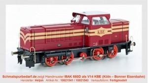 Diesellokomotive MAK 650D als V14 KBE