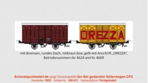 2er-Set gedeckte Güterwagen CFC