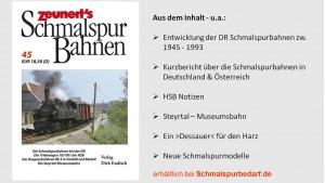 Zeunert's Schmalspur Bahnen Band 45