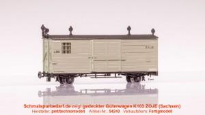 gedeckter Güterwagen k103 ZOJE