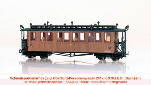 Personenwagen 291k K.S.Sts.E.B. // neue Betr.-Nr.