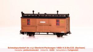 Packwagen 1492k K.S.Sts.E.B. // neue Betr.-Nr.