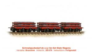 3er-Set Slate Wagons, rot