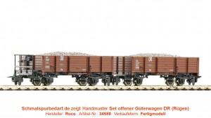 2er-Set offene Güterwagen DR