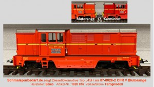 Diesellokomotive L45H 87 0026-2 CFR