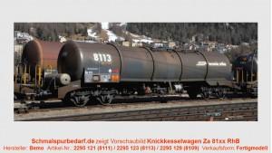 RhB Knickkesselwagen Za 8113