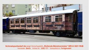 "RhB Gesellschaftswg. WR-S 3821 ""rol. Bündnerstube"""