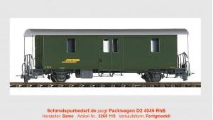 RhB Gepäckwagen D2 4045, grün