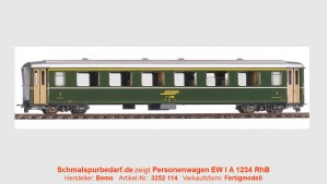 RhB Einheitswagen EW I A 1234, grün