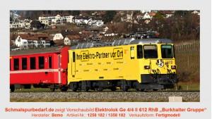 """RhB Elektrolok Ge 4/4 II 612 """"Burkhalter Gruppe"""""""