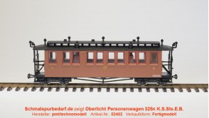 Oberlicht-Personenwagen K325 K.S.Sts.E.B.