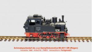 Dampflokomotive 99.4511 DR
