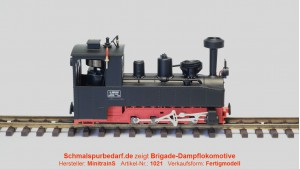 Brigade-Dampflokomotive, schwarz / rot