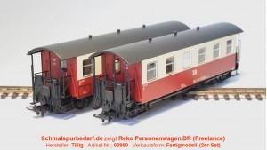 2er-Set Reko-Personenwagen DR // 6-fenstrig