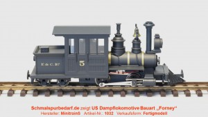 "Forney Dampflokomotive ""F&C"" N°5, schwarz"