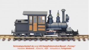 Forney Dampflokomotive, schwarz / braun
