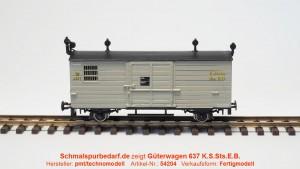 gedeckter Güterwagen 637  K.S.Sts.E.B.