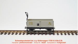 offener Güterwagen 1728 K.S.Sts.E.B.