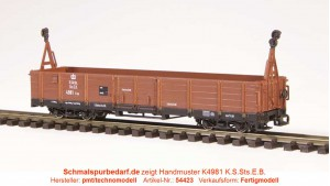 offener Güterwagen K4981 K.S.Sts.E.B.