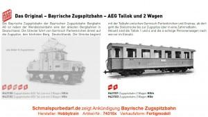 2er-Set Zugspitzbahn Personenwagen