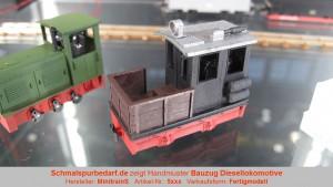 Bauzug-Diesellokokomotive, schwarz / rot
